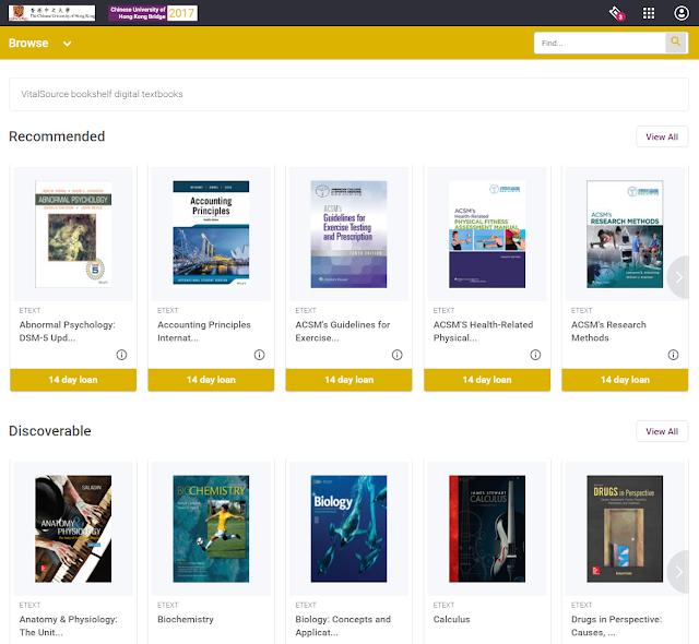 VitalSource Bookshelf Digital Textbook