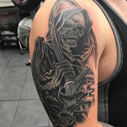 enigmatic grim reaper tattoos azrail dövmeleri