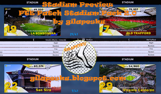 PES 2017 Stadium Preview For PTE Patch Stadiumpack 2.0 by gilapesku