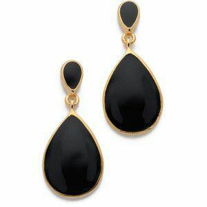 Black Stone Earring Design 1