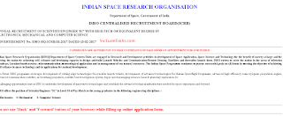 ISRO Scientist notification