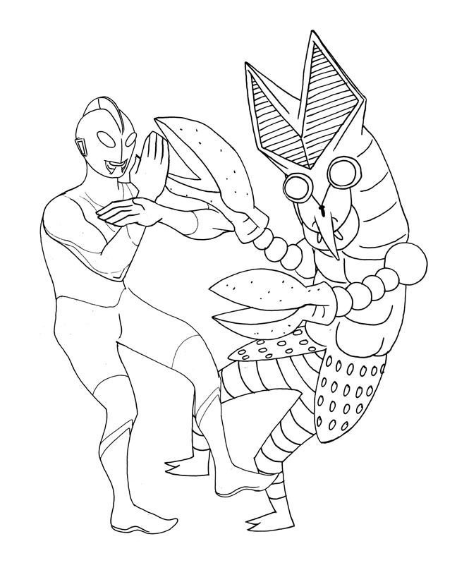 ::Art of ALDEN VIGUILLA::: Ultraman VS Alien Baltan