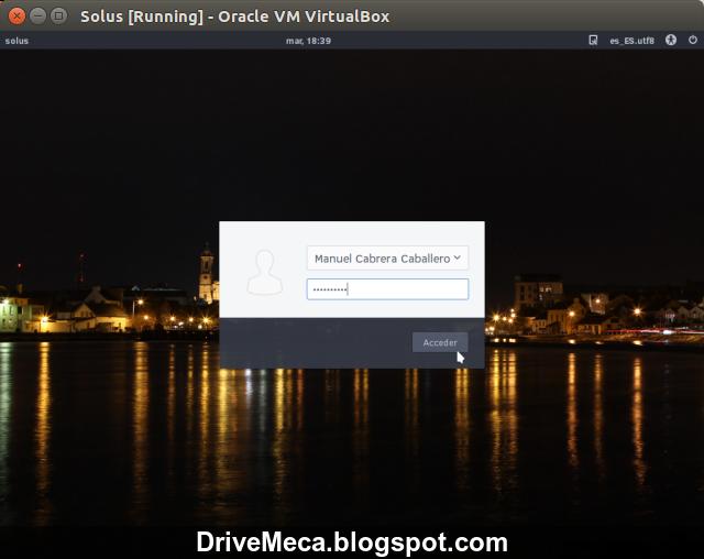 DriveMeca instalando Solus paso a paso