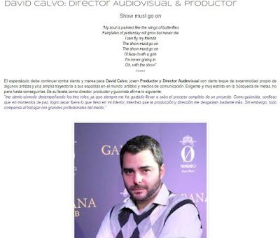 "ENTREVISTA a David Calvo. ""Director Audiovisual & Productor"" by Melanie Belmonte"