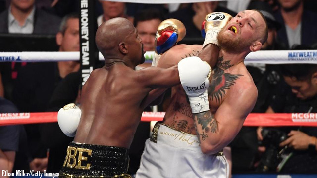 Mayweather defeats McGregor in Round 10
