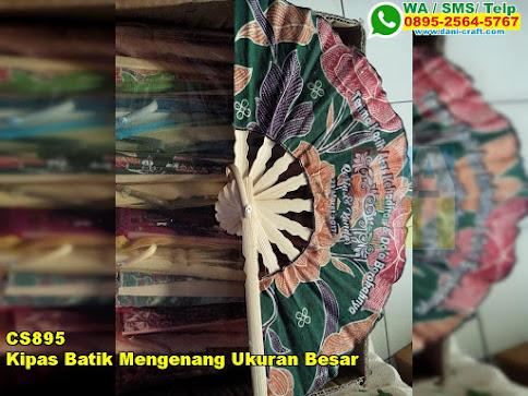 Kipas Batik Mengenang Ukuran Besar
