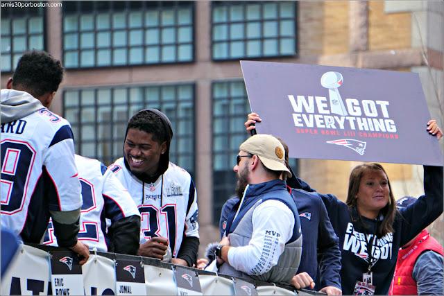 Eslogan en el Desfile de los Patriots por la Celebración de la Super Bowl LIII