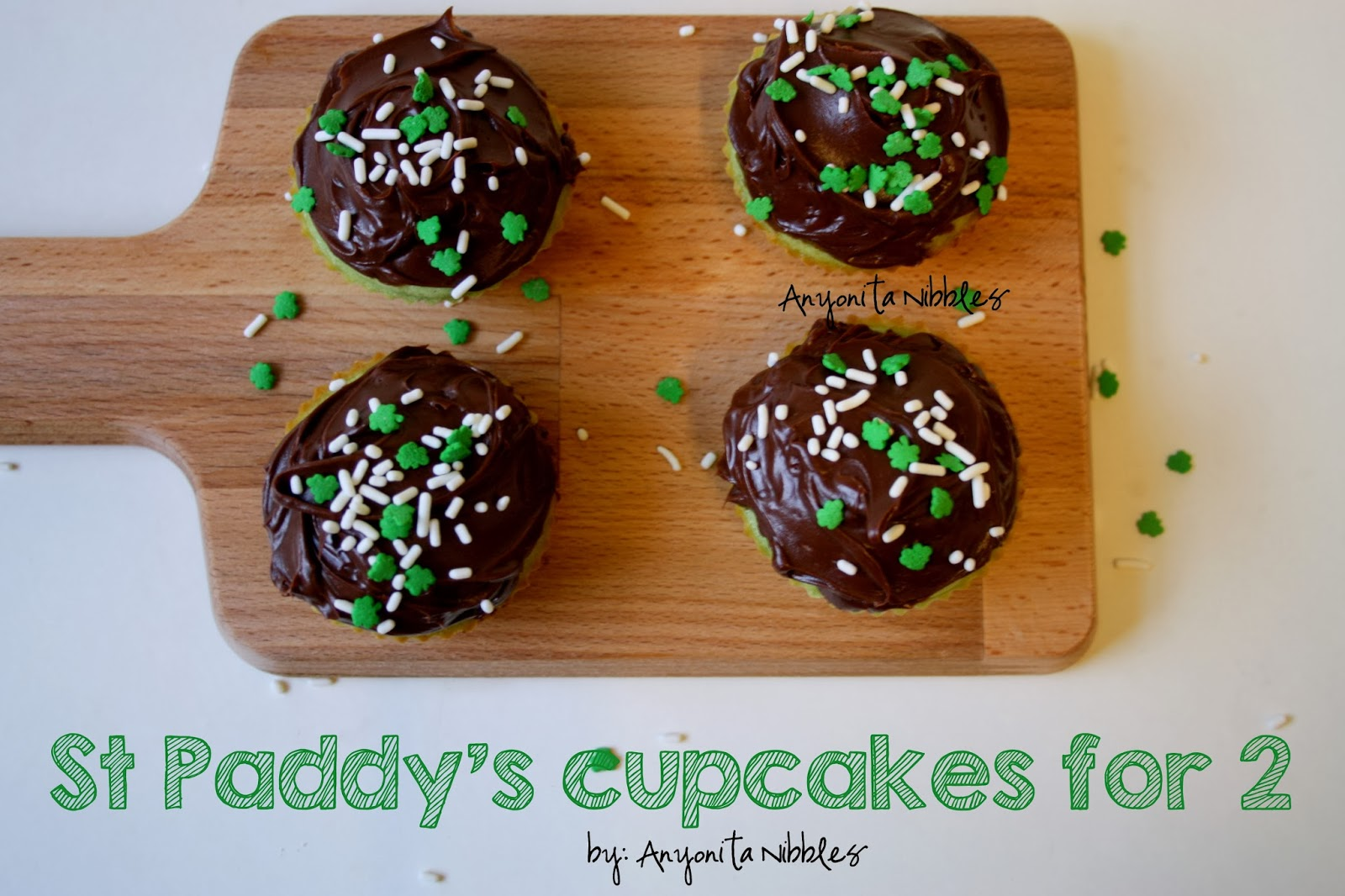 Four St Patrick's Day Cupcakes for Two | Anyonita Nibbles