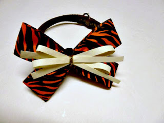 glow in the dark dog bow