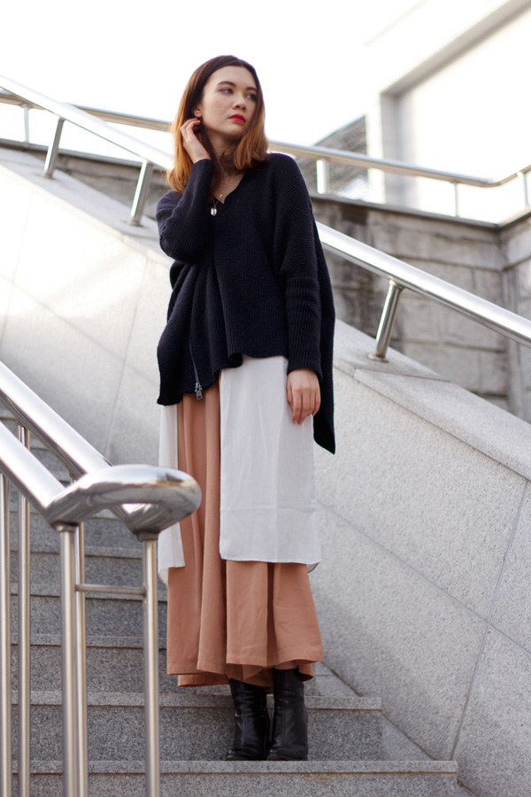 Goocy, harajuku, layered look, korean style, streetstyle, women's fashion, how to layer, asos, all saints, zara, culottes, personal style, japanese fashion