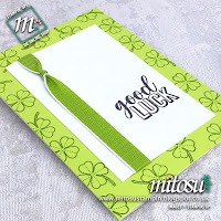 Amazing Life Stampin' Up! Good Luck Card Idea. Order Cardmaking Products from Mitosu Crafts UK Online Shop 24/7