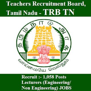 Teachers Recruitment Board, TRB, Tamil Nadu, TN, Lecturer, Post Graduation, freejobalert, Sarkari Naukri, Latest Jobs, trb tn logo