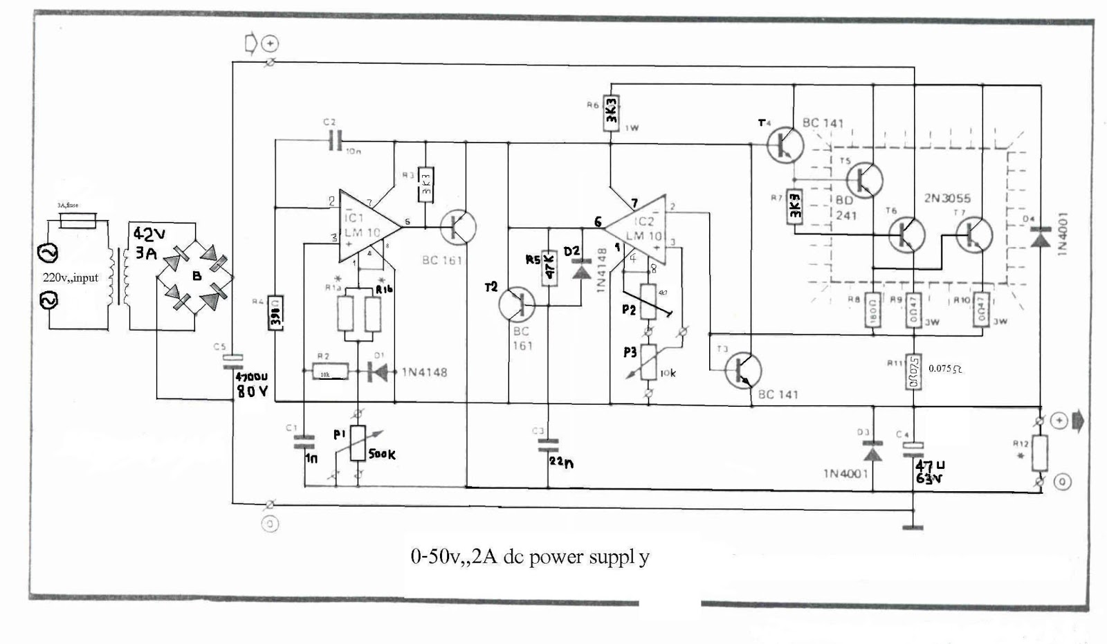 medium resolution of 0 50v 2a bench power supply circuit the circuit 50v bench power supply circuit diagrams