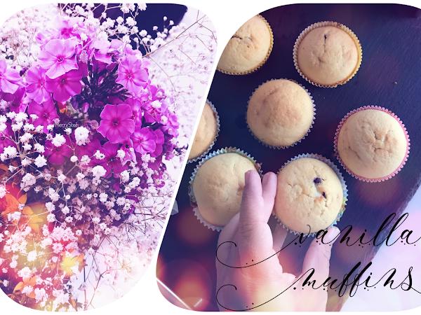 Recipe :: Vanilla muffins with chocolate heart