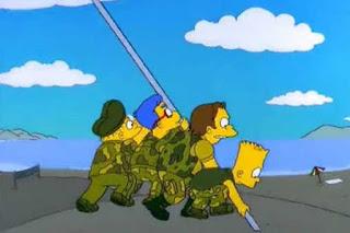 Imágenes de los Simpsons a través de la historia. Imágenes de los Simpsons basas en hechos reales