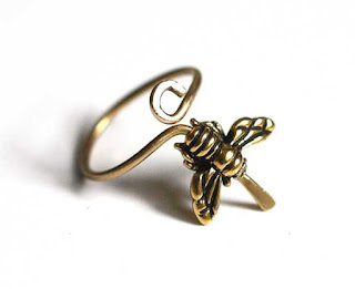 Brass Bee Ring