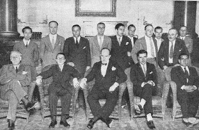 Participantes en el Torneo Internacional de Ajedrez de Madrid 1934