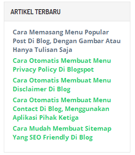 Cara Membuat Widget Popular Post, Recent Post, Random Post, Dan Related Post Di Blog