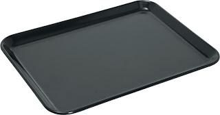 Tava  'Waca' pentru prezentare din melamina neagra 270x210x(H)17 mm