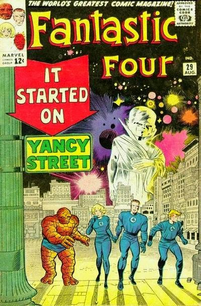 Fantastic Four #29, the Watcher, Yancy Street