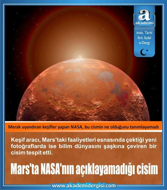 Mars'ta NASA'nın açıklayamadığı, bilim dünyasını şaşkına çeviren cisim ne?