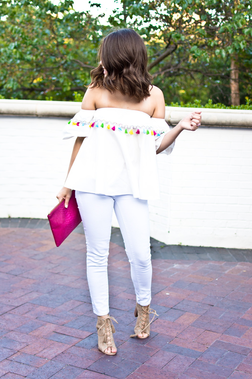 white off shoulder top for summer
