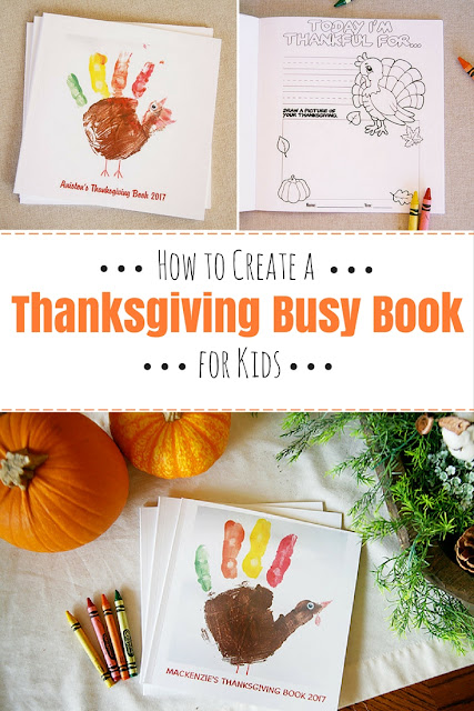 How to create a thanksgiving busy book for kids. A super fun and easy way to entertain children during Thanksgiving!
