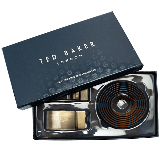 Ted Baker Hoffman Reversible Leather Brown Belt