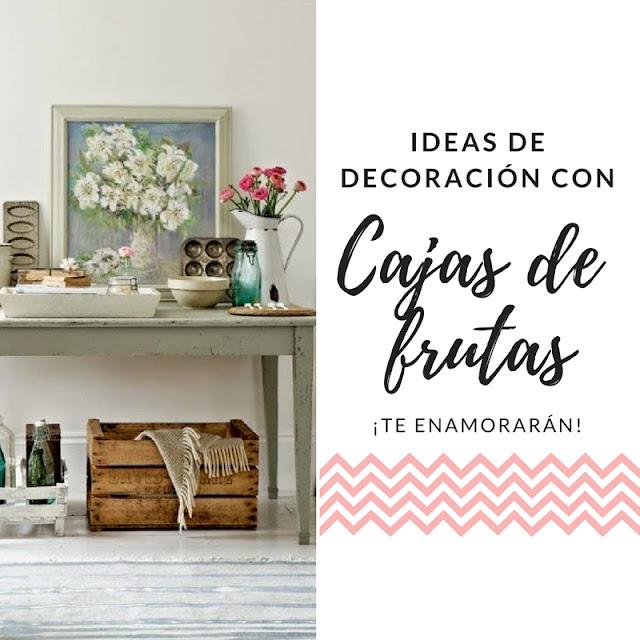12 Ideas para decorar la casa con cajas de madera
