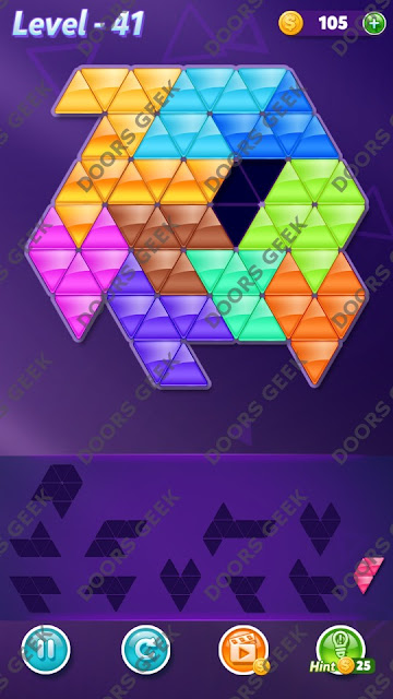 Block! Triangle Puzzle Challenger Level 41 Solution, Cheats, Walkthrough for Android, iPhone, iPad and iPod