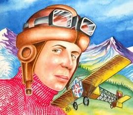 Dibujos de Jorge Chávez a color para niños