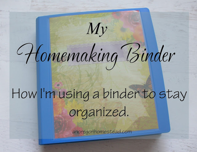 How I'm using a binder to get organized.
