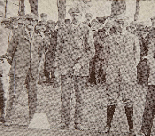 Great Triumvirate golfers J.H. Taylor, James Braid, Harry Vardon