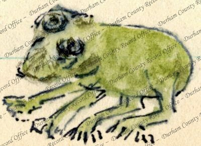 Frog as drawn by Reverend JAG Birch (D/DLI 7/63/2)