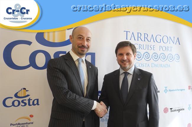 ► Costa Cruceros ha presentado el inicio de sus operaciones en Tarragona con el Costa neoRiviera