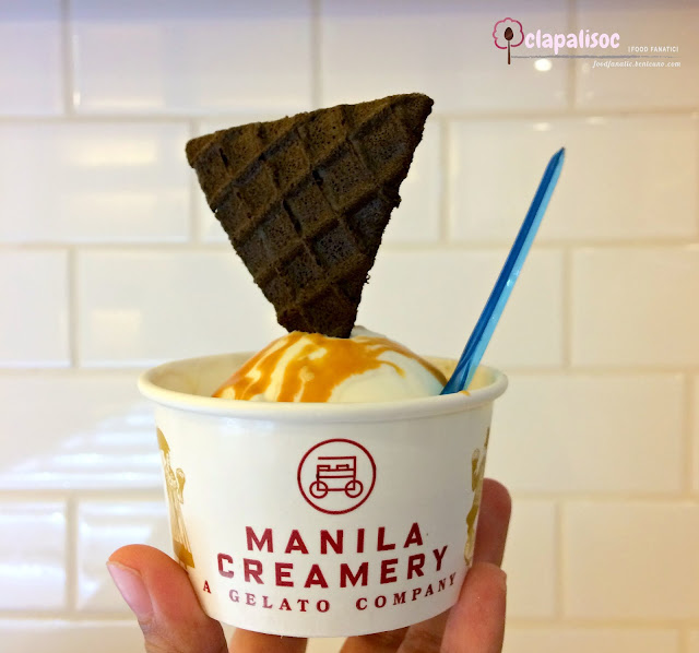 Salted Egg Cheesecake Gelato from Manila Creamery