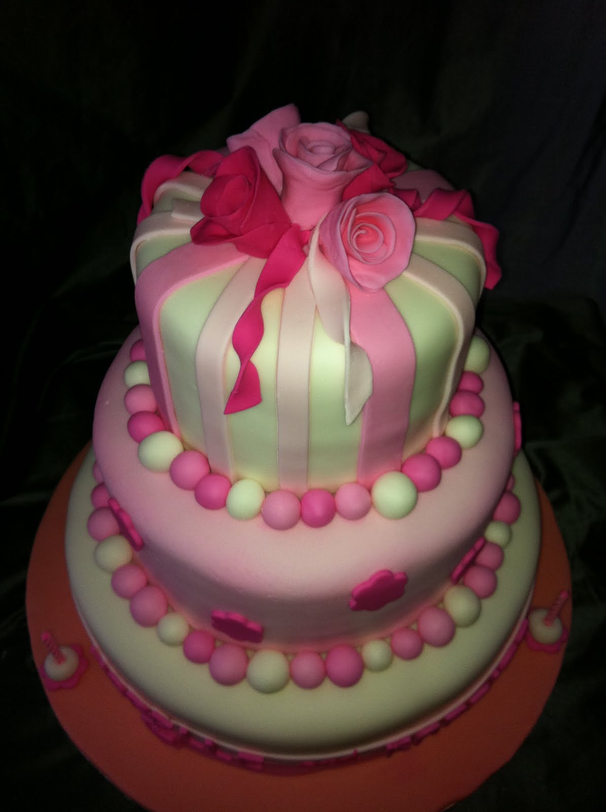Jocelyn S Wedding Cakes And More 3 Tiered Cake 1st