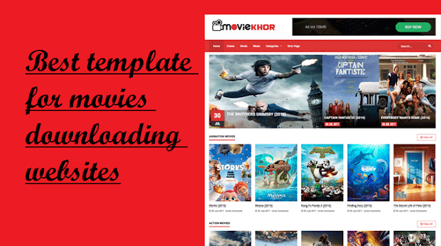 Best template for movies downloading websites