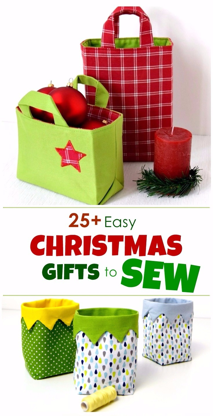 25+ diy Christmas Gifts To Sew (With Patterns) - AppleGreen Cottage