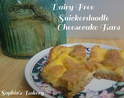 Dairy Free Snickerdoodle Cheesecake Bars