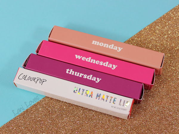 ColourPop Ultra Matte Lips - Monday, Wednesday, Thursday and Viper Swatches & Review