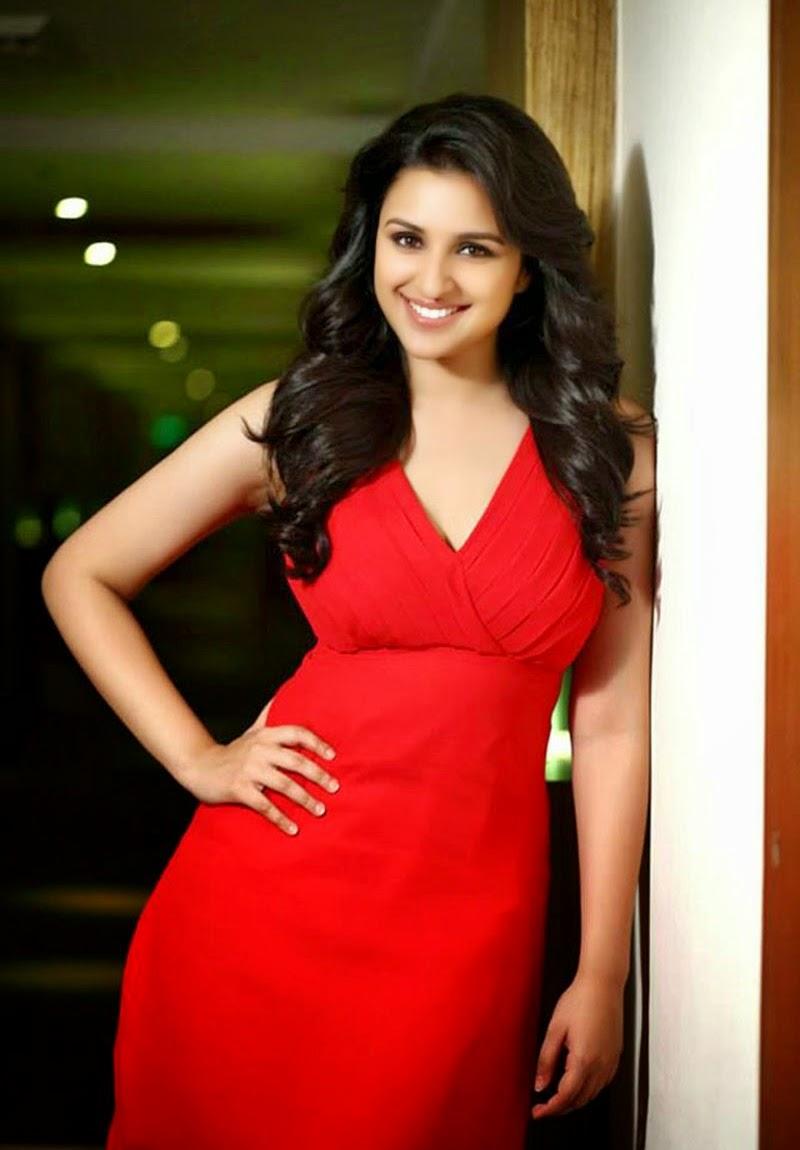 Curvy Parineeti Chopra in Red Dress