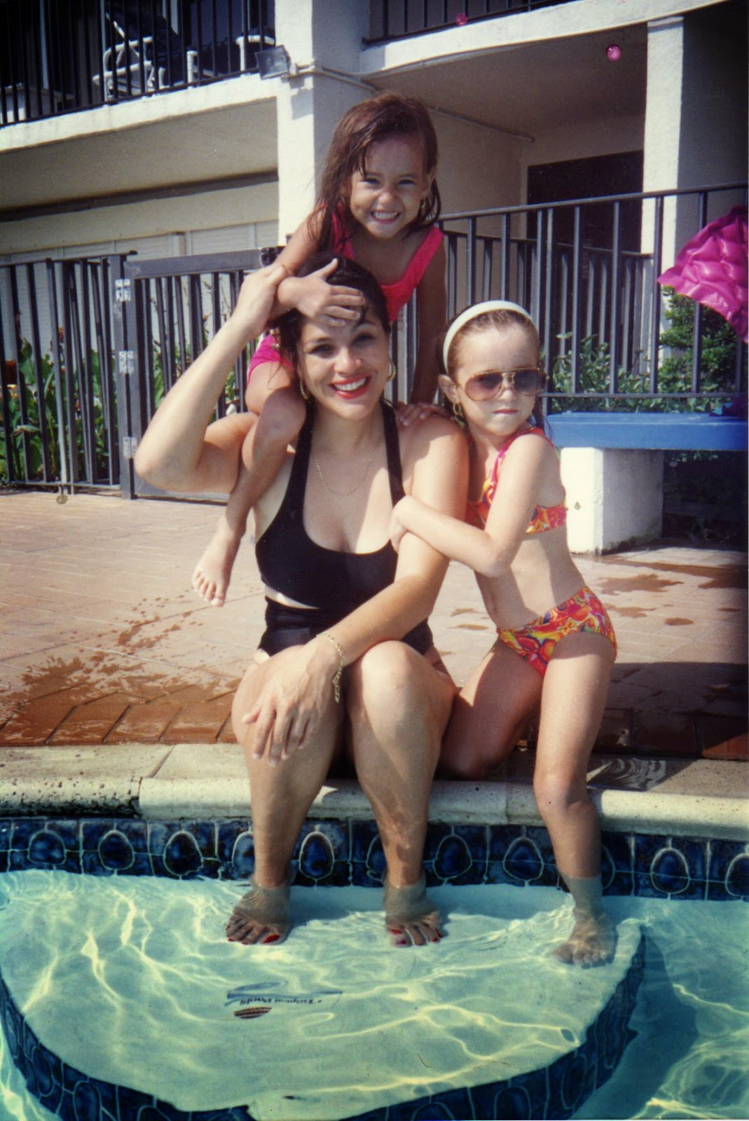 Family Shot by the pool
