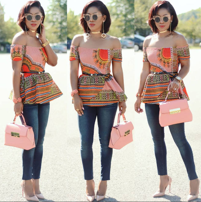Karen All steps out in fabulous dashiki top