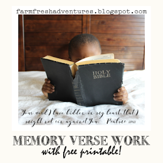Memory Verse Work with Free Printable