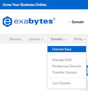 cara setting dan custom blogspot domain di exabytes