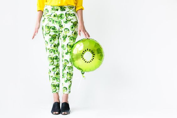 9 chic kiwi recipes and crafts to try: kiwi balloon