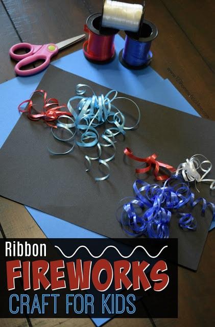 curling-ribbon-fireworks-craft-for-kids