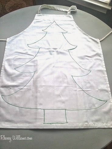christmas tree diy costume step 1