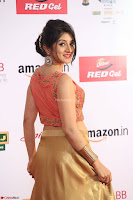 Harshika Ponnacha in orange blouuse brown skirt at Mirchi Music Awards South 2017 ~  Exclusive Celebrities Galleries 015.JPG